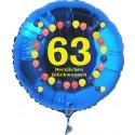 Luftballon aus Folie mit Helium, 63. Geburtstag, Balloons