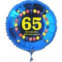 Luftballon aus Folie mit Helium, 65. Geburtstag, Balloons