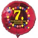 Luftballon aus Folie mit Helium, 7. Geburtstag, Balloons