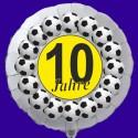 Luftballon aus Folie mit Helium, 10. Geburtstag, Fußball