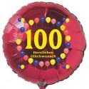 Luftballon aus Folie mit Helium, 100. Geburtstag, Balloons