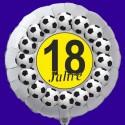 Luftballon aus Folie mit Helium, 18. Geburtstag, Fußball