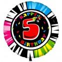 Luftballon aus Folie mit Helium, 5. Geburtstag, Animalloon