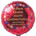 Geburtstags-Luftballon Alles Gute zum Geburtstag, Balloons, Herzlichen Glückwunsch, inklusive Helium