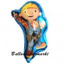 Luftballon Bob the Builder, Folienballon mit Ballongas - Bob der Baumeister