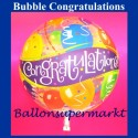 Congratulations Bubble Luftballon (mit Helium)