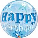 Happy Birthday Blau, Bubble Luftballon (ohne Helium)