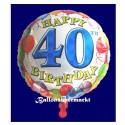 Happy Birthday Luftballon zum 40. Geburtstag (ohne Helium)