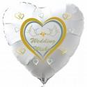 Hochzeit, Wedding Wishes, Luftballon aus Folie mit Ballongas-Helium
