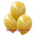 Danke, Motiv-Luftballons, Gelb, 3 Stück