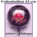 Folienballon 50er Jahre Party, Rundballon 43 cm, inklusive Ballongas