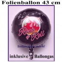 Folienballon 50er Jahre Party, Rundballon 43 cm