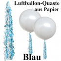 Ballonquaste Blau aus Papier