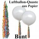Ballonquaste Bunt aus Papier