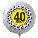 Luftballon aus Folie mit Helium, 40. Geburtstag, Fußball