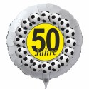 Luftballon aus Folie mit Helium, 50. Geburtstag, Fußball