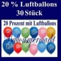 Luftballons 20 Prozent, 30 Stück