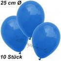 Luftballons 25 cm Ø, Blau, 10 Stück