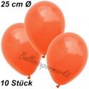 Luftballons 25 cm Ø, Orange, 10 Stück