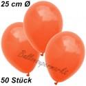 Luftballons 25 cm Ø, Orange, 50 Stück