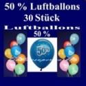 Luftballons 50 Prozent, 30 Stück