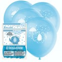 Luftballons Baby Shower, Blau, 8 Stück