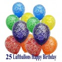 "Luftballons ""Happy Birthday Explosion"""