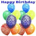 Kombi-zu-Zahlen-Luftballons-Kristall: Happy Birthday