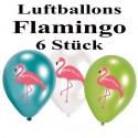 Flamingo Luftballons, 6 Stück