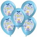 Luftballons, Latexballons It's a Boy Baby, 5 Stück