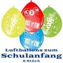 Luftballons, Latexballons zur Einschulung, 8 Stück