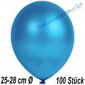 Luftballons Latex 25-28 cm Ø,  Metallic Blau, 100 Stück