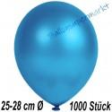 Luftballons Latex 25-28 cm Ø,  Metallic Blau, 1000 Stück