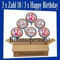 Geburtstag 18. Glückwünsche mit Luftballons