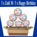 Geburtstag 30. Glückwünsche mit Luftballons
