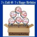 Geburtstag 40. Glückwünsche mit Luftballons