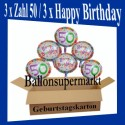 Geburtstag 50. Glückwünsche mit Luftballons