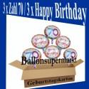 Geburtstag 70. Glückwünsche mit Luftballons