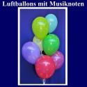Motiv-Luftballons-Musiknoten