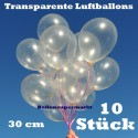 Luftballons Latex 30cm Ø Transparent 10 Stück
