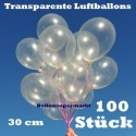 Luftballons Latex 30cm Ø Transparent 100 Stück