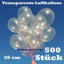 Luftballons Latex 30cm Ø Transparent 500 Stück
