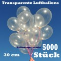 Luftballons Latex 30cm Ø Transparent 5.000 Stück