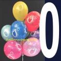 Luftballons Zahl 0, 10 Stück