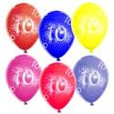 Luftballons Zahl 10, 10 Stück