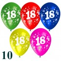 Luftballons, Latexballons zum 18. Geburtstag / gemischte Farben, 10 Stück