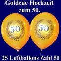 Luftballons zur Goldenen Hochzeit, 50 Jahre, 25 Stück