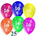"""Luftballons, Latexballons 25 Stück """"50"""""""