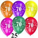 """Luftballons, Latexballons 25 Stück """"70"""""""