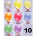 Luftballons Latex 30cm Ø Perlmutt 10 Stück